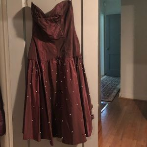 Vintage sweetheart neck cocktail dress